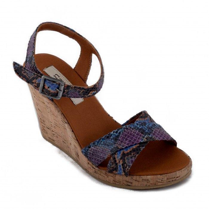 Mikobra Woman vegan ankle strap wedge sandal cork