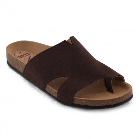 Konfort brown flat sandal unisex vegan
