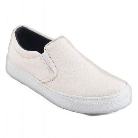 Bare White Piñatex vegan flat shoes man woman pineapple