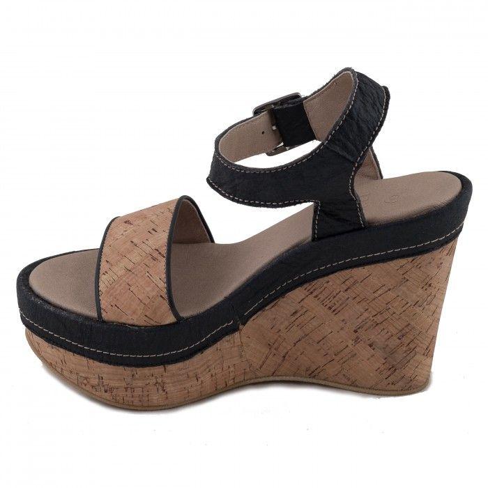 Sara Cork Vegane Sandaletten damen kork