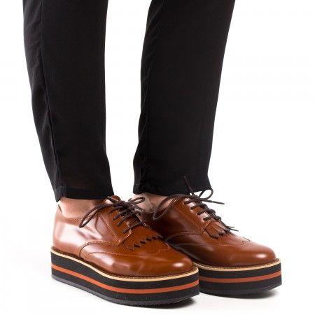 Sandra Brown zapato vegan mujer marrón