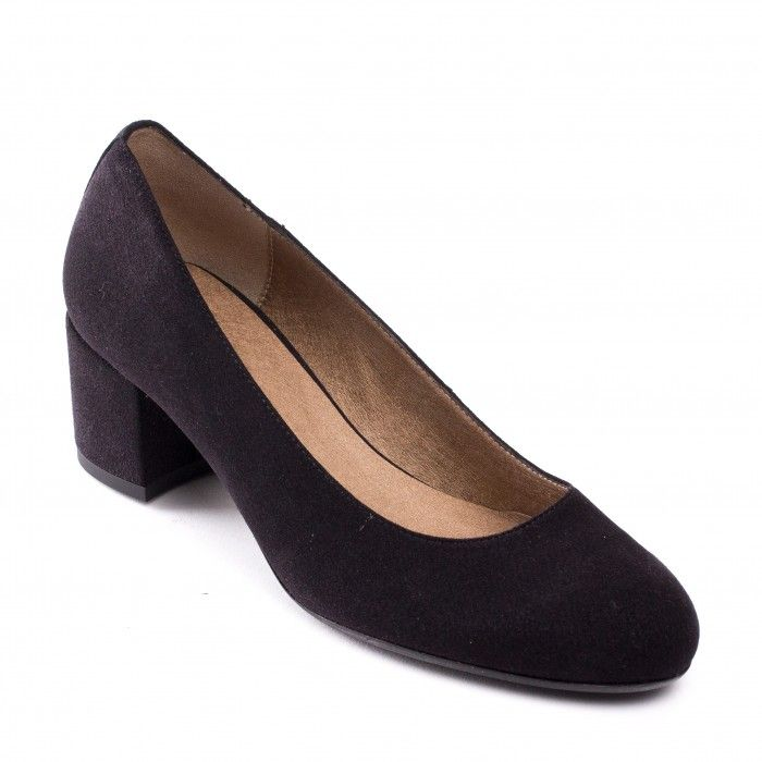 Lina Vegan block heel shoes woman black