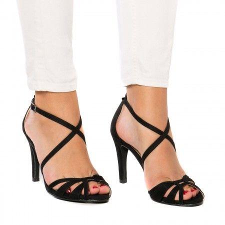 Adri Black sandália vegan senhora salto