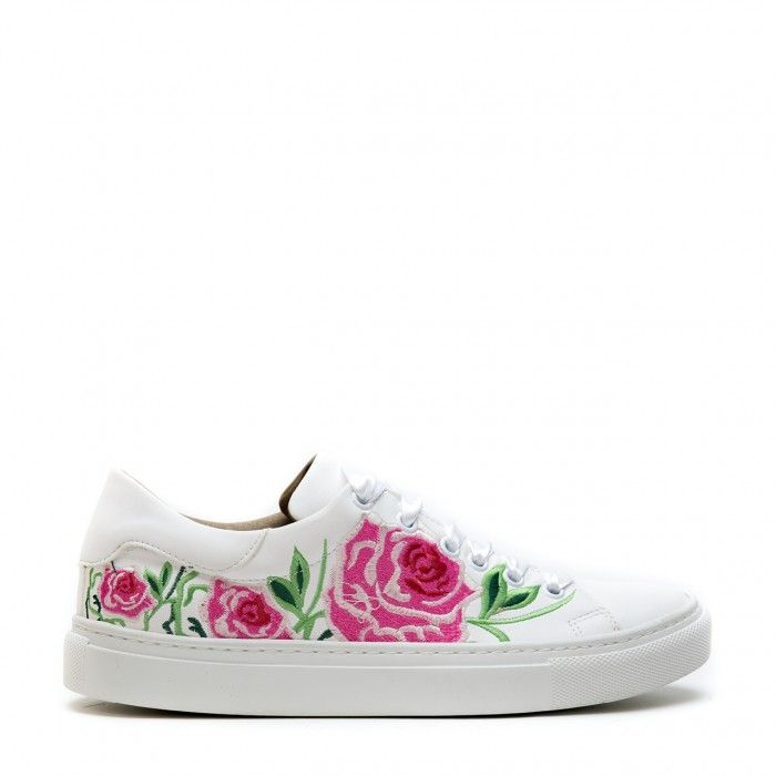 Rose White Woman vegan sneaker