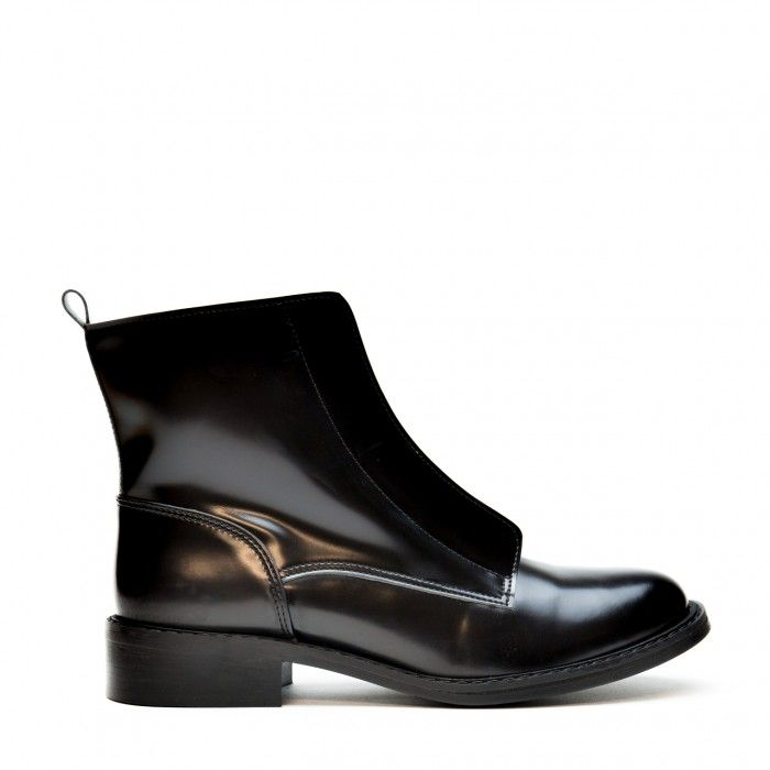 Zipme Black woman vegan ankle boots zipper