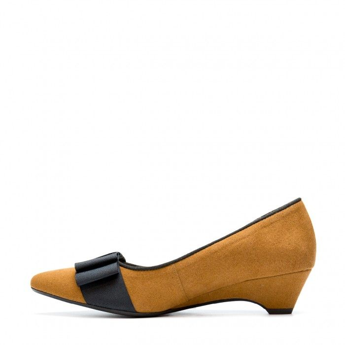 Valentina Brown Woman Vegan Ballerina kitten heel