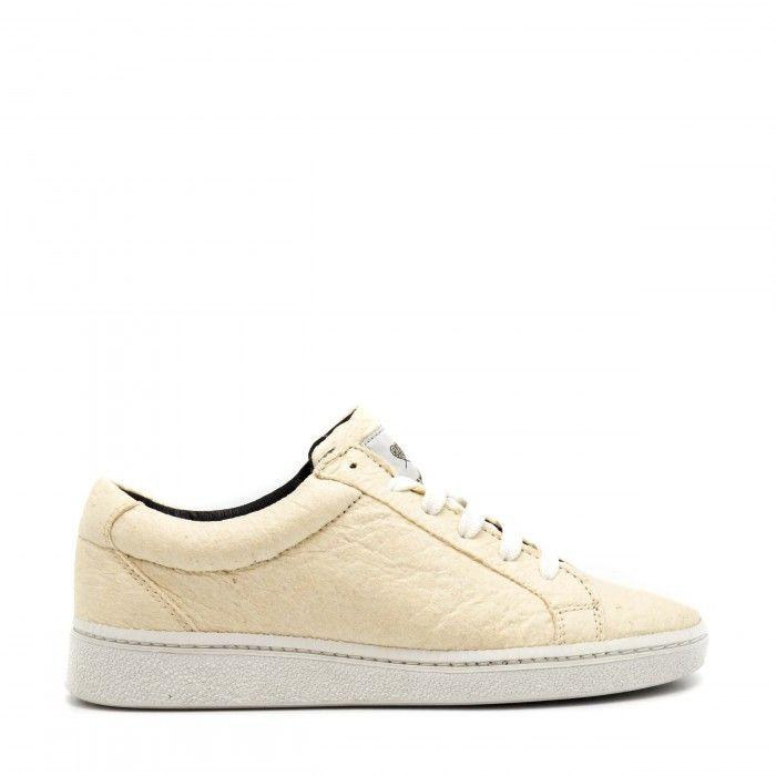 Basic White Piñatex Veganer Sneakers dame herren Ananas weiß