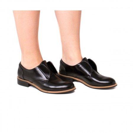 Clara Micro sapato raso vegan mulher preto