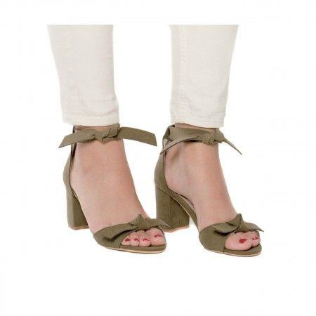 Estela Green sandália vegan senhora salto bloco