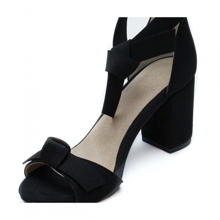 estela black sandale talon bloc noir femme vegane