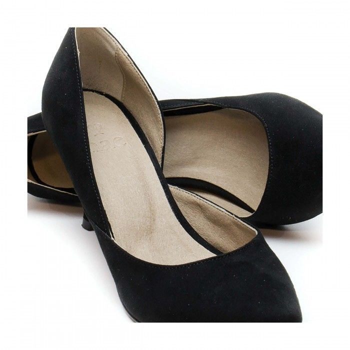 Nina Black woman vegan d'orsay shoe