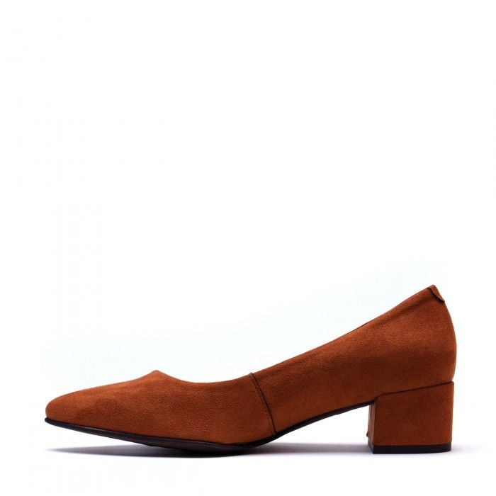 Malu Orange Chaussure végane femme point toe