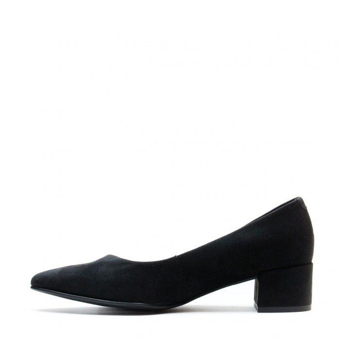 Malu Black Chaussure végane femme point toe