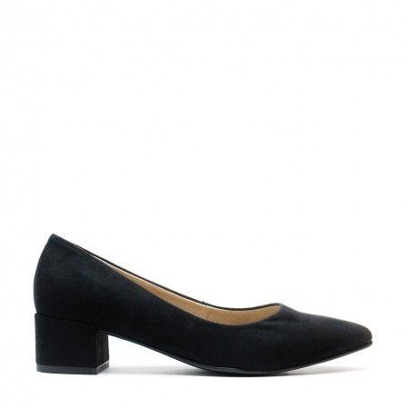 Malu Black sapato vegan senhora salto em bloco