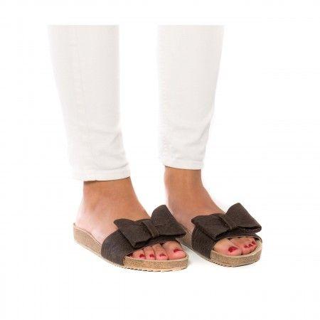 Monik Piñatex Woman vegan sandal piñatex pineapple cork