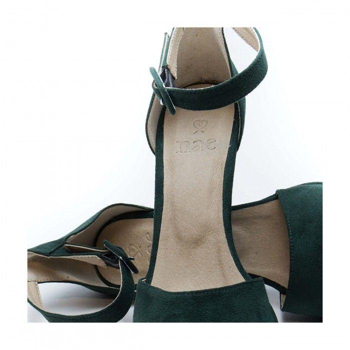 regina green sandália com tira no tornozelo verde mulher vegan