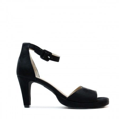 regina black ankle strap sandal women vegan