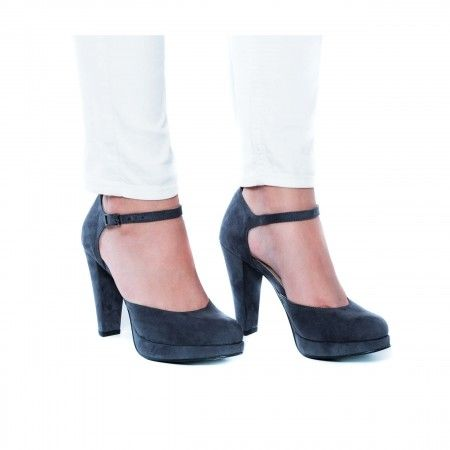 Erica Grey Woman vegan strap platform Court Shoes