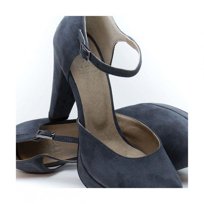 Erica Grey Woman vegan strap platform Court Shoes