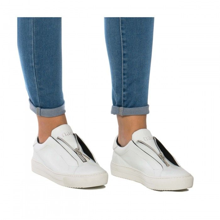 OnZip White Sneakers damen weiß