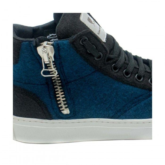 Milan Pet Blue Unisex vegan ankle sneakers
