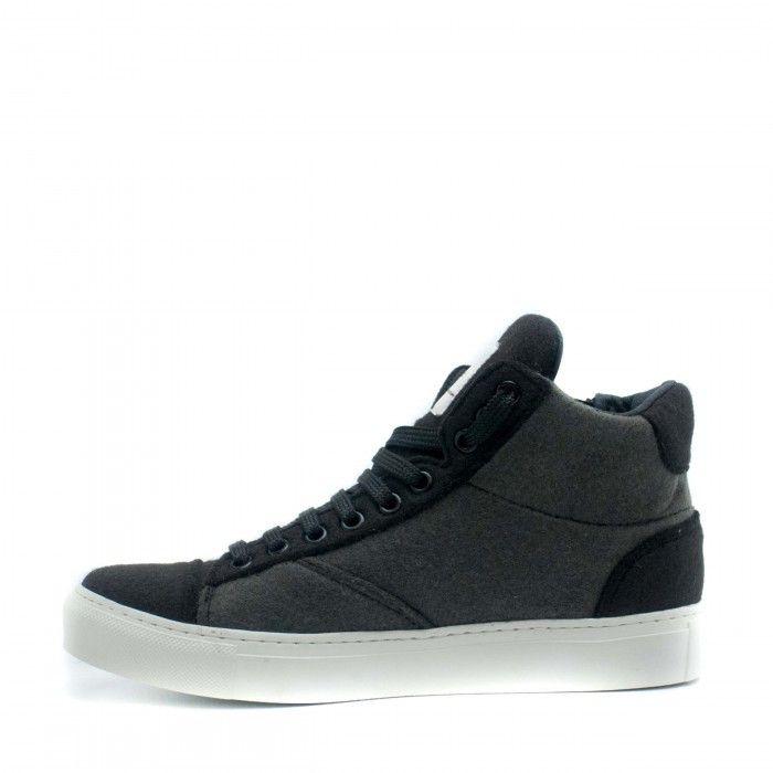 Milan Pet Grey Unisex vegan ankle sneakers