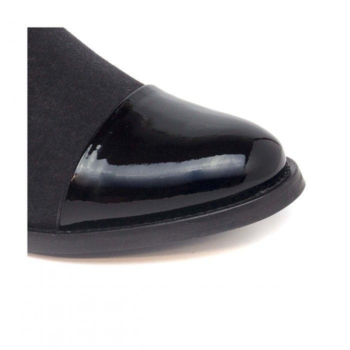 Lorena Black woman vegan ankle boots