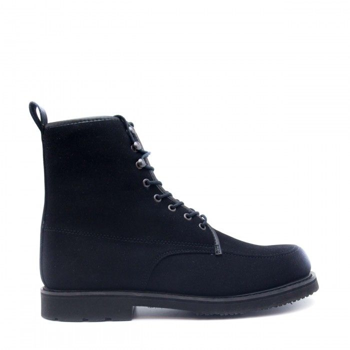 Andre Black Botte végane homme noir lacets sans nickel