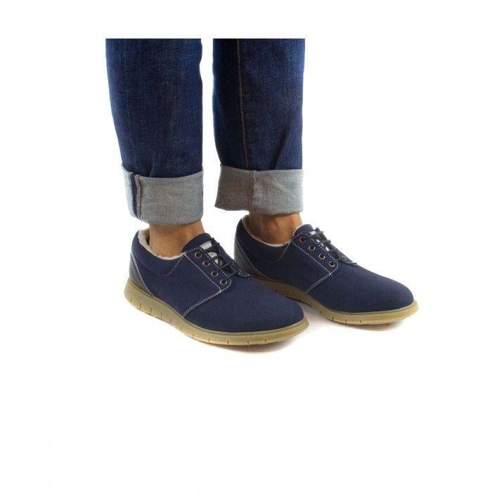 Marjuk Blue zapato vegano hombre azul