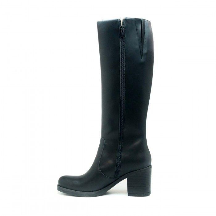 Andrea woman vegan knee high boot black