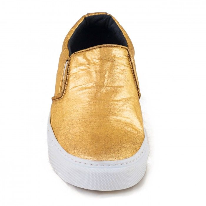 Bare Gold Piñatex Chaussure végane femme ananas doré