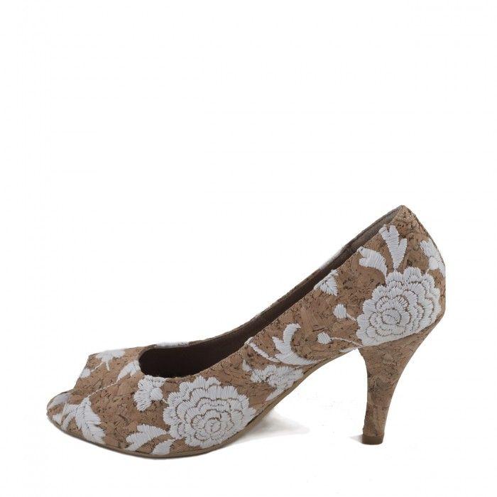 Flor Chaussure végane femme talon haut liège