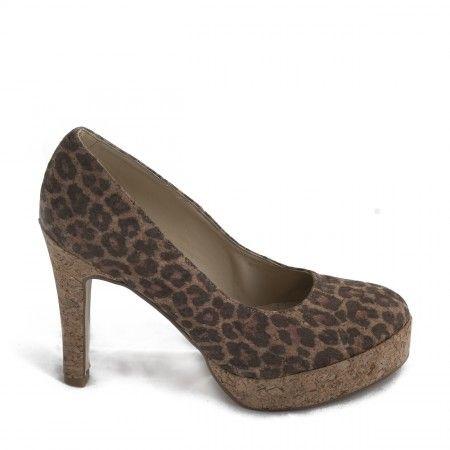 Chaussure végane femme talon haut liège