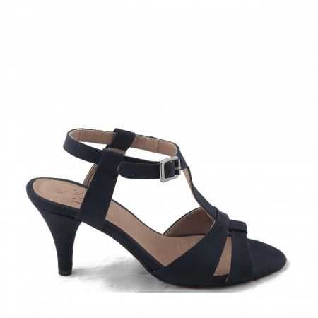 Bona Blue Woman vegan t-strap sandal kitten heel