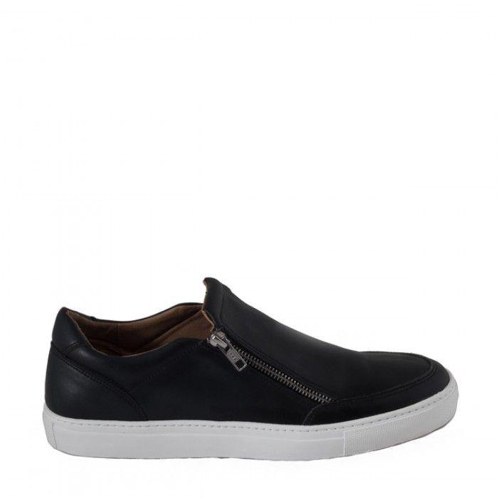 Man vegan shoes zipper