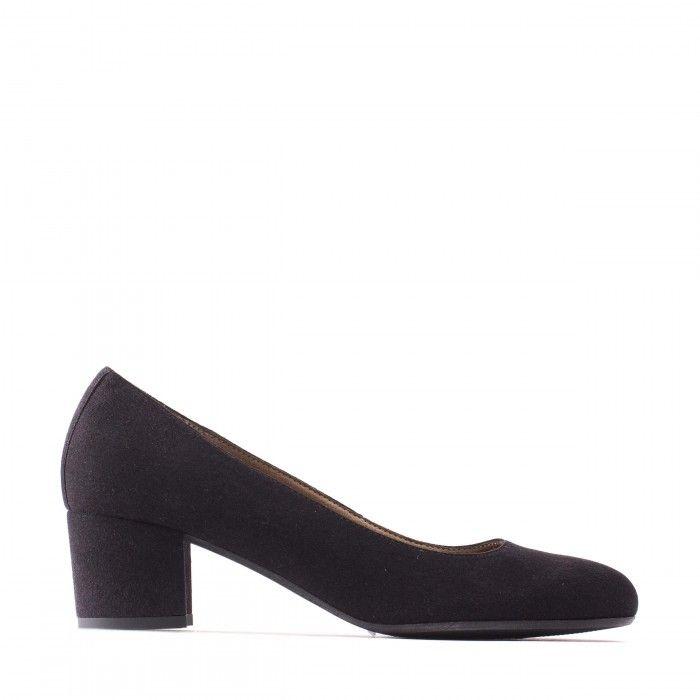 Lina sapato vegan classico preto senhora salto