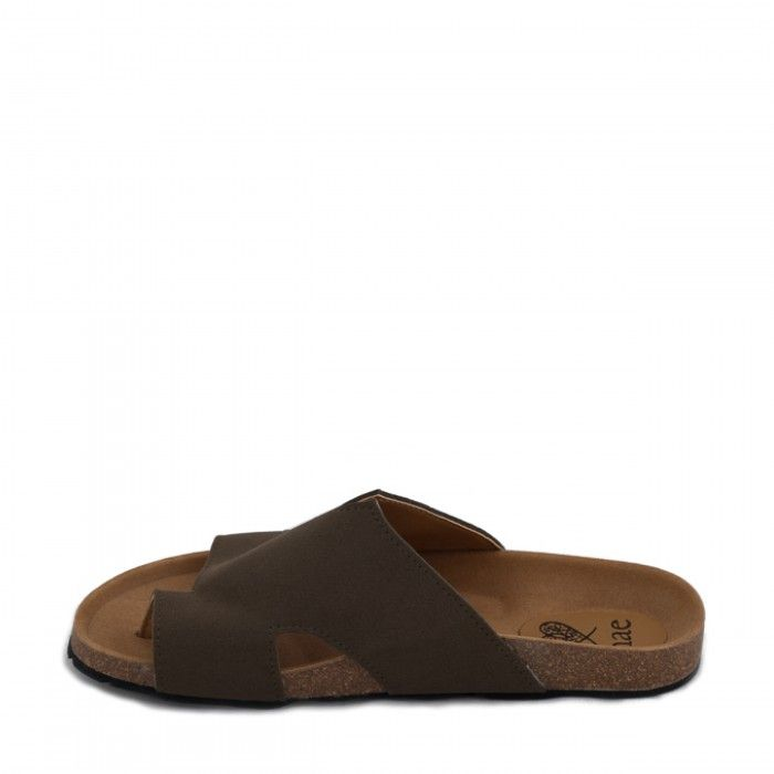 Konfort brown flat sandal