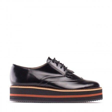 Sandra Black Woman Vegan Platform shoe