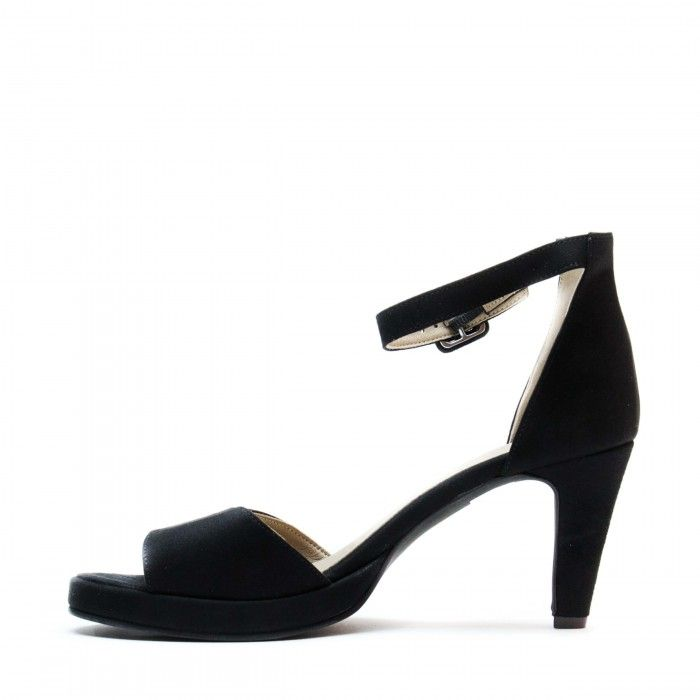 regina black ankle strap sandal women vegan