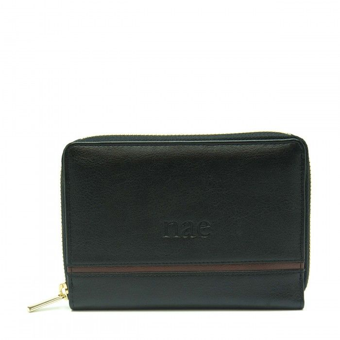 eva black wallet women classic card slots pocket vegan