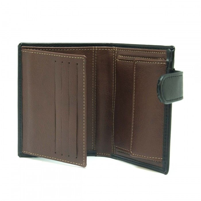 denver black wallet man clip classic coin pocket vertical vegan