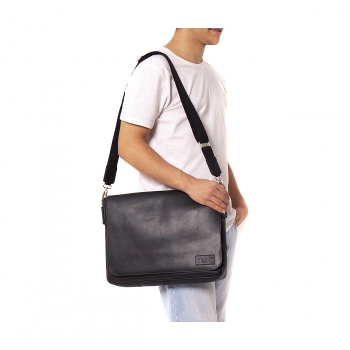 davi black messenger cross bag men women vegan unisex