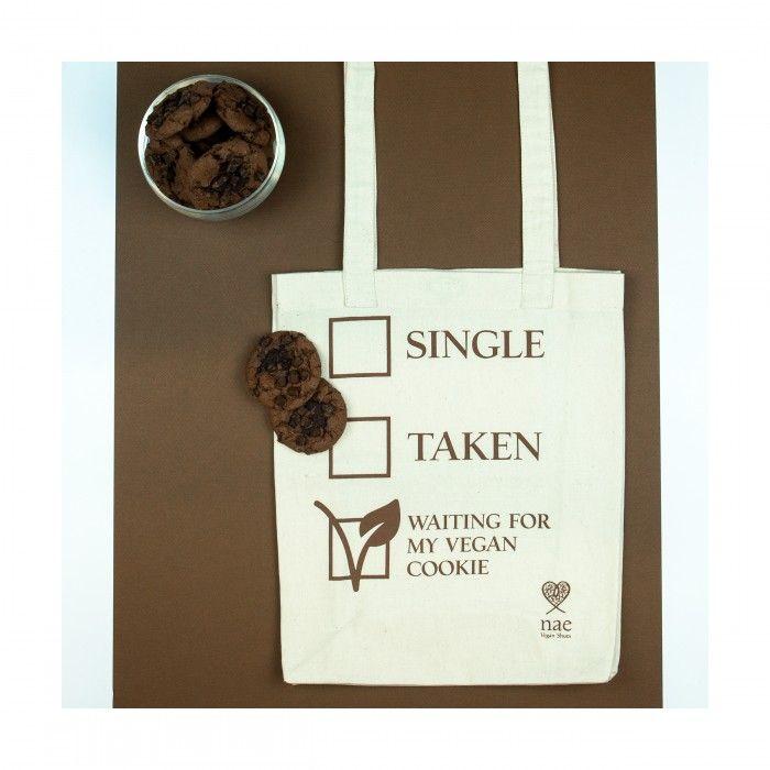 cookie organic cotton tote bag natural woman vegan