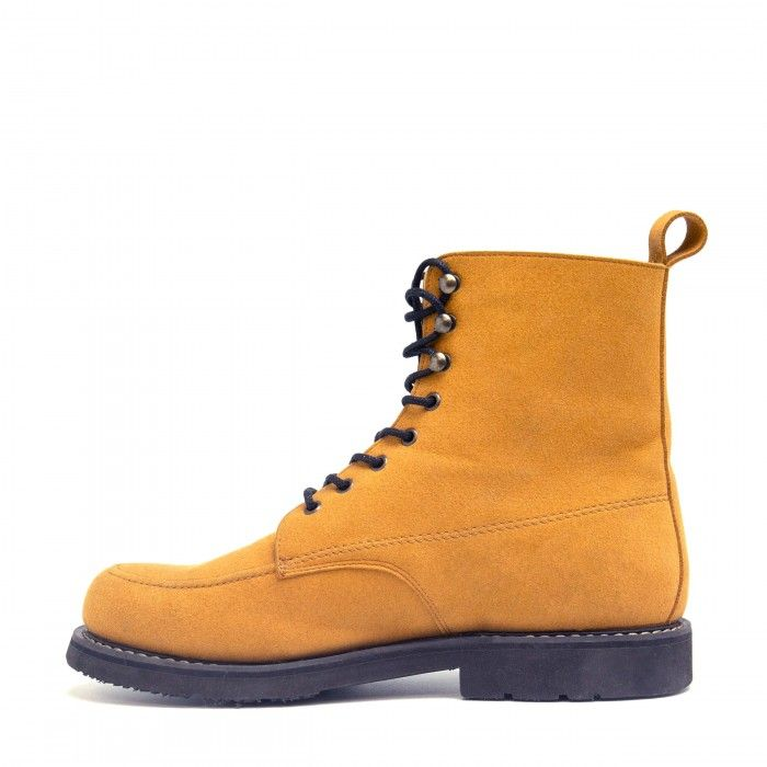 Andre Camel man vegan short boots laces