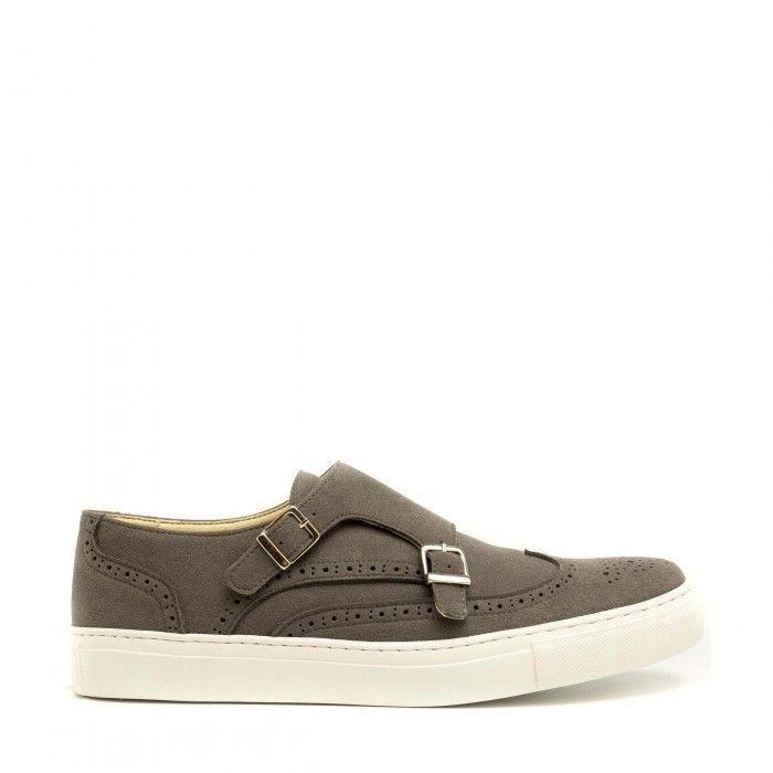 brandon grey monk strap shoes