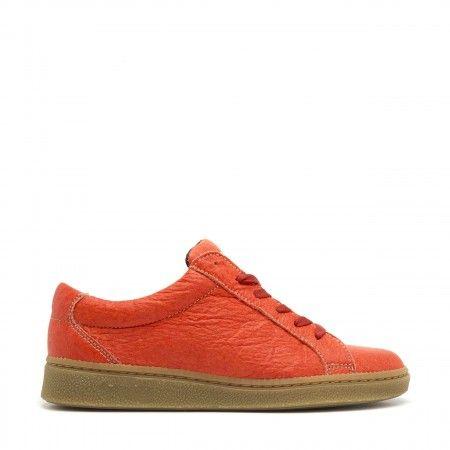 Basic Coral zapatilla hecha de fibra de hojas de piña mujer vegana