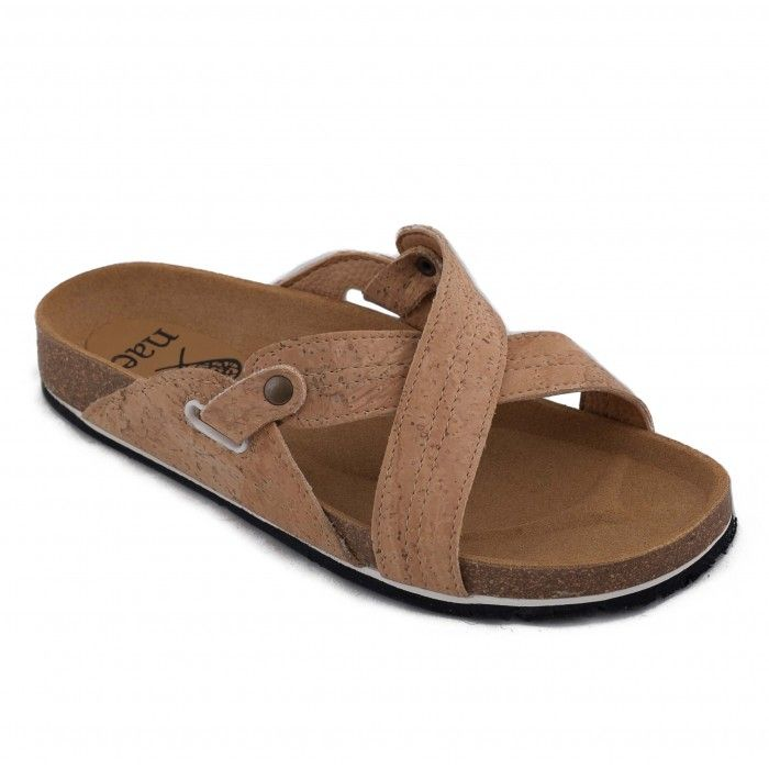 paxos cork sandalia plana mujer vegana