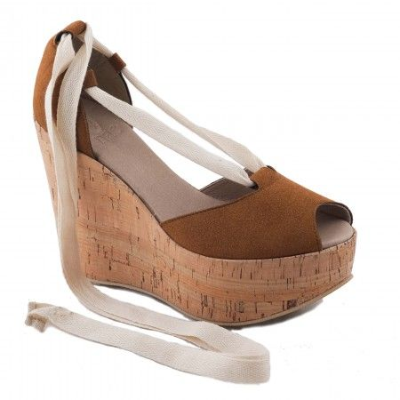 Mireia Cork Woman vegan wedge sandal cork