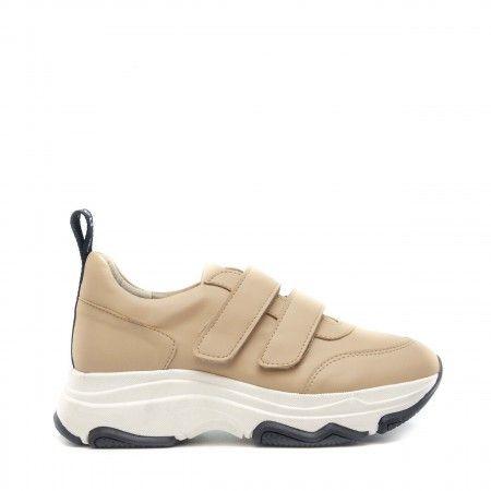 coline zapatillas deportivas gruesas beige plataforma chunky mujer veganas