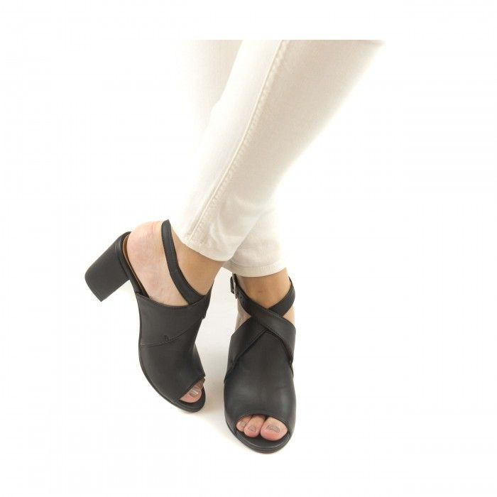 atik black peep toe shoes